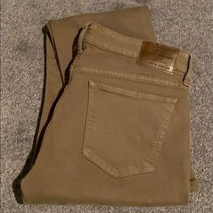 Lucky Brand Sweet Straight Jeans in Olive Green